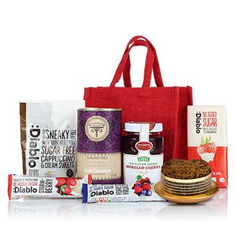 Diabetic hampers uk hamper delivery ihampers sugar free jute bag negle Image collections